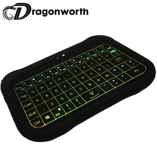 T18 Backlight Remote Keyboard 2.4G Touchpad Wireless Keyboard T18 Mini Wireless Qwerty Air Mouse Compatible with TV Box Computer
