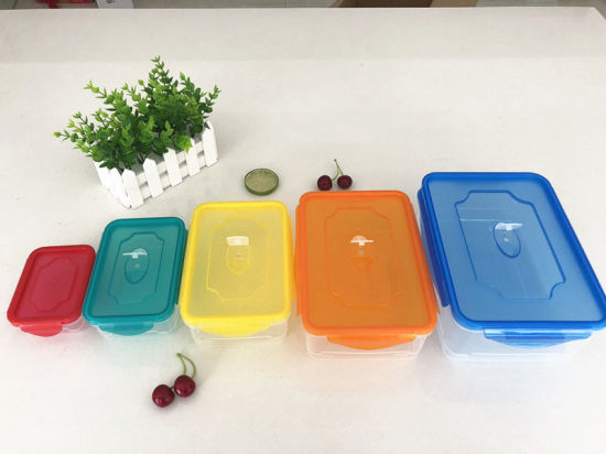 Kitchen Airtight Food Storage Containers with Lids -5 Piece Set- Air Tight  Snacks Pantry & Kitchen Container