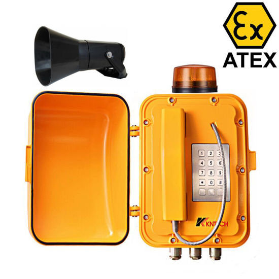 Explosion Proof Telephones Wall Mounted Sos Phone Tunnel Telephone with Alarm Lamp