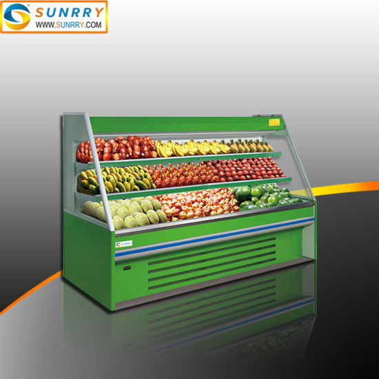 Commercial Supermarket Vegetables and Fruits Display Refrigerator Case