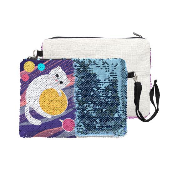 Wholesale Fashion Custom Travel Women Sequin Makeup Cosmetic Bag
