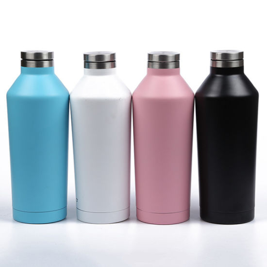 500ml Customized Double Wall Vacuum Flask Water Corkcicle Bottle