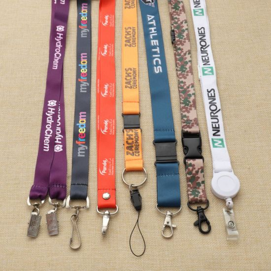 Customized Cheap Promotional Gift Neck Strap Polyster Sublimation Woven Lanyards pictures & photos