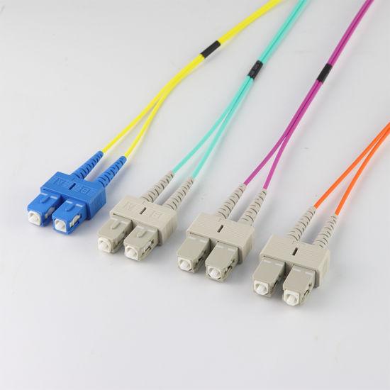 10m, 50//125 SMA905 to SMA905 3.0mm Multimode Duplex OM1 OM2 Fiber Optic Patch Cable