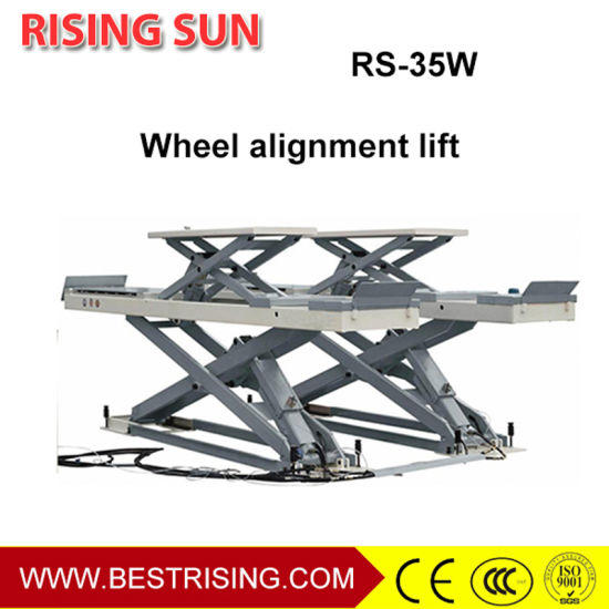 Inground 3.5t Wheel Alignment Lift Car Lifting Machine for Workshop