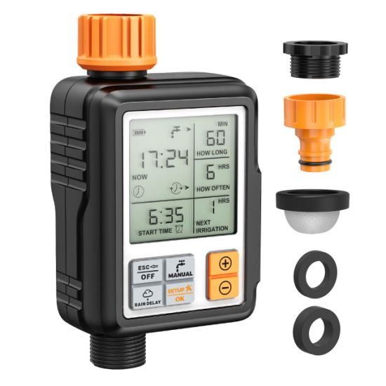 Digital Irrigation Timer. with Big LCD Display. Easy to Use. Have Child Lock Mode.