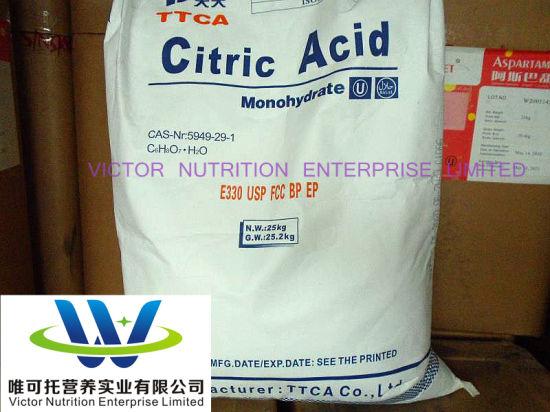 Acidity Regulator Citric Acid Anhydrous Food Additive CAS: 77-92-9