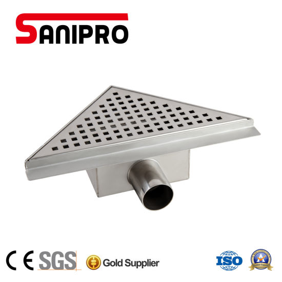 China Bathroom Floor Drain Stainless Steel Triangle Floor Grates