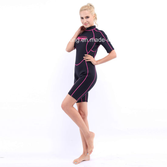 Women`S Shorty Neoprene Surfing Wetsuit with Nylon Both Sides (HX-L0454) a2e9379ee