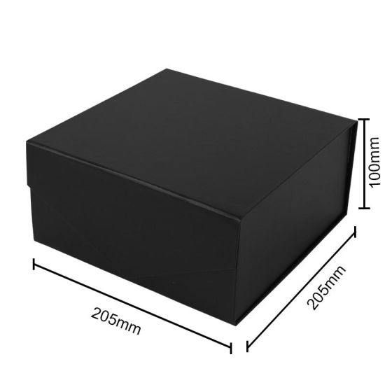 Custom Cosmetics Box Black Magnetic Folding Luxury Packaging Box Logo Facial Mask Color Box