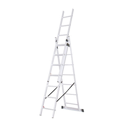 Domestic Aluminium 3 Section Extension Ladder with EN131 Certificate pictures & photos