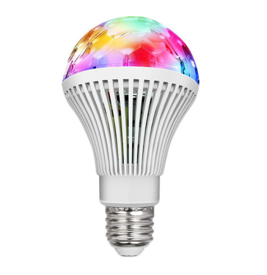 Colorful Crystal Magic Ball RGB Stripe Rotating Bulb Stage Light for Wholesale