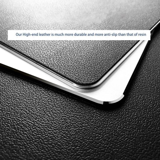 Custom Aluminum Alloy Silver Metal Game Mouse Pad Computer Mouse Pad