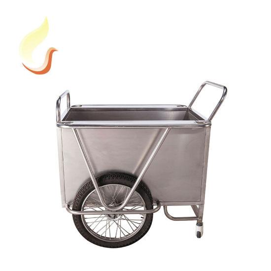 B24 Cheap Heavy Duty Stainless Steel Laundry Trolley Hospital Carts