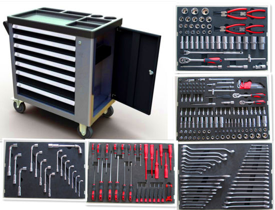 7 Drawers- New Type 228PCS Heavy Duty Tool Cabinet (FY238A1) pictures & photos