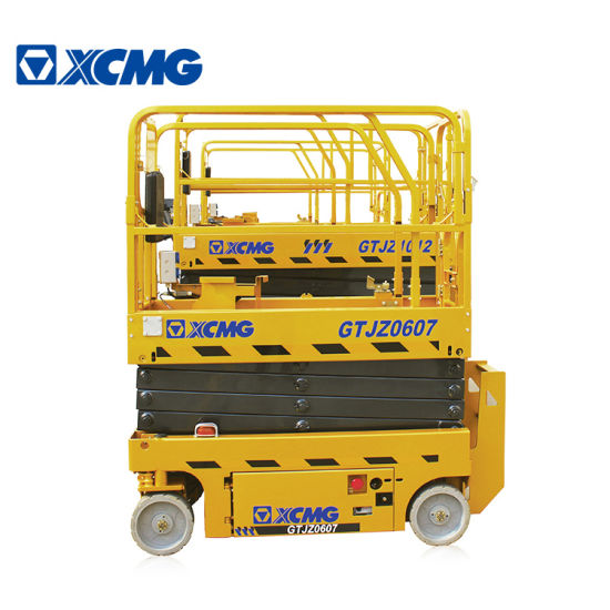 XCMG Brand New Gtjz0607 7.8m Electric Construction Cheap Hydraulic Scissor Lift Aerial Work Platform Table China