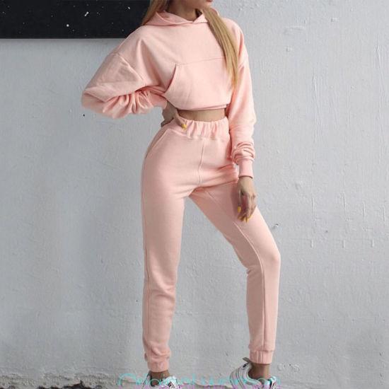 Customize High Quality Cotton Spandex Yoga Women Tracksuit Set