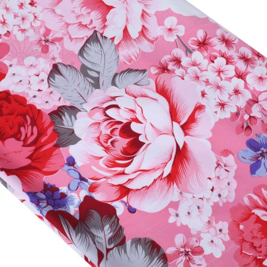Chinese Factory Bright Flower Pattern Brushed Polyester Fabric for Bedding Sheet
