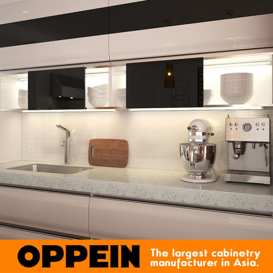 Vietnam Project Lacquer Large Modern Wooden Modular Kitchen Cabinet (OP15-L22) pictures & photos