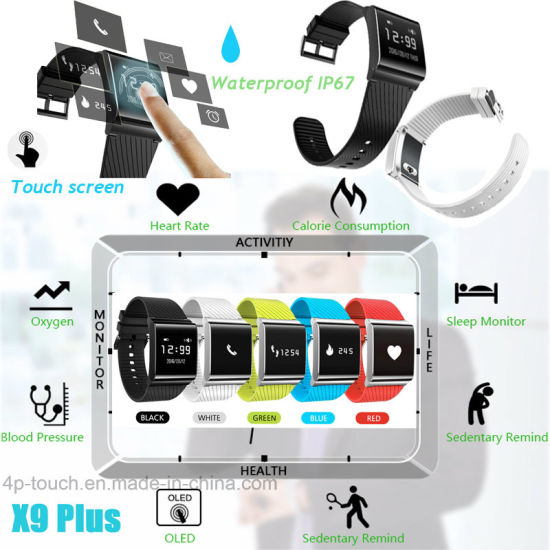 Waterproof Bluetooth Smart Bracelet with Fitness Tracker X9plus pictures & photos