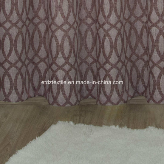 Polyester Jacquard Linen Touching Window Curtain pictures & photos