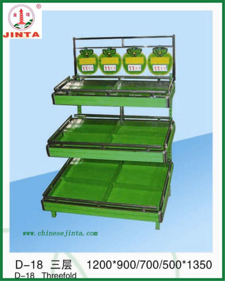 3 Layer Supermarket Fruit and Vegetable Display Shelf (JT-G28) pictures & photos