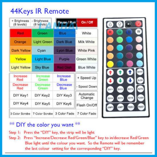 Ir 44 Keys Infrared Rgb Remote Controller Box 12v For Led Strip Lights