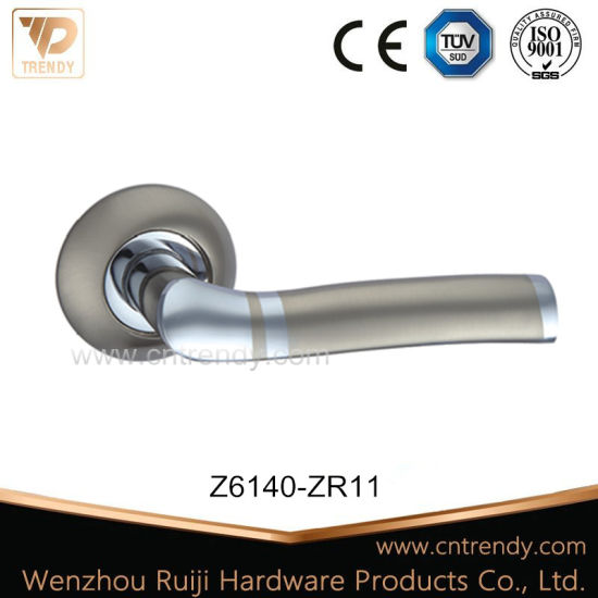 China Manufacture Interior Lever Door Handle On Rose Z6140 Zr11
