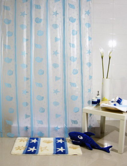 PEVA Shower Curtain In Walmart Supermarket