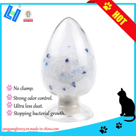 Silica Cat Litter Blue Particles with Super Odor Control