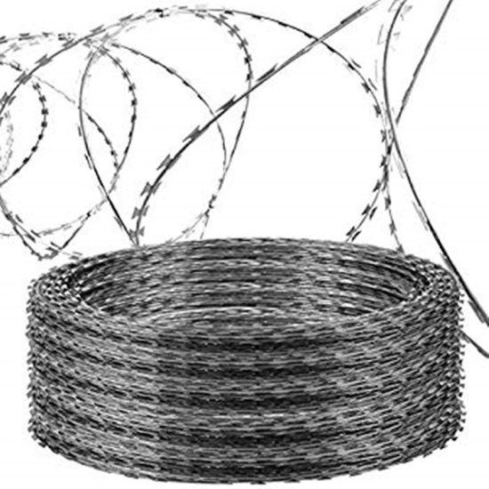 China Galvanized Contertina Razor Barbed Wire for Airport Prison ...