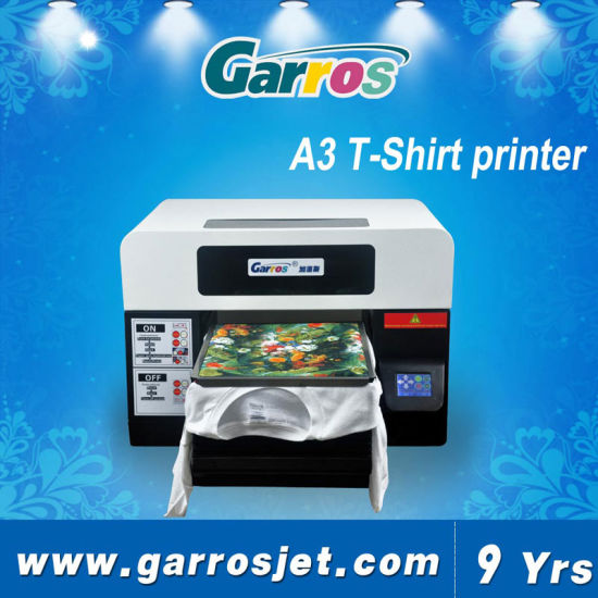 [Hot Item] Garros Direct Fabric A3 DTG T-Shirt Printing Machine Cotton  Printer