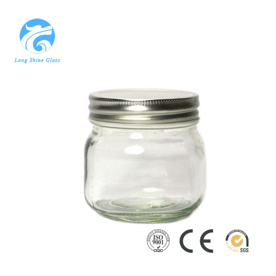 China Customized Food Storage Glass Mason Jar Glass Container with