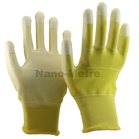 Nmsafety Colorful Anti-Static ESD PU Coated Gloves pictures & photos