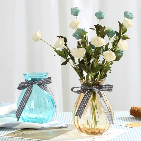 Hot Sell Free Sample Colorful Glass Flower Vase for Home Decoration pictures & photos