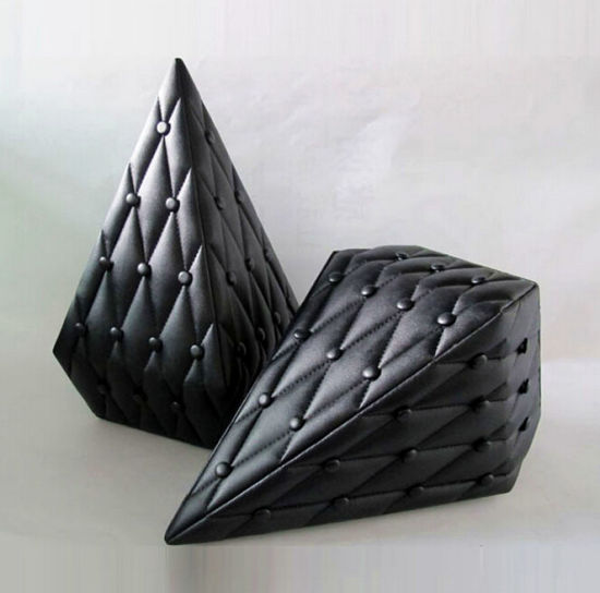 Black Leather Diamond Shaped Perfume Box