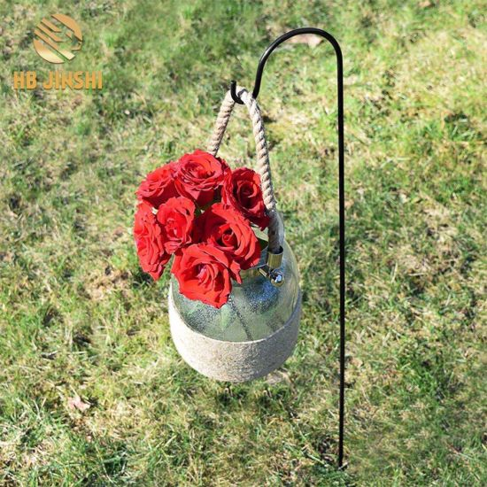 Durable Wrought Iron Plant Hangers Shepherds Hooks pictures & photos
