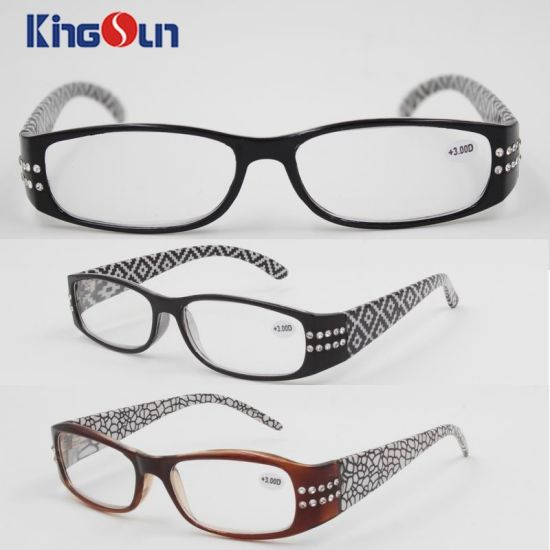 c4be64e03d China Lady′s Fashion Diamond Plastic Reading Glasses - China Reading ...