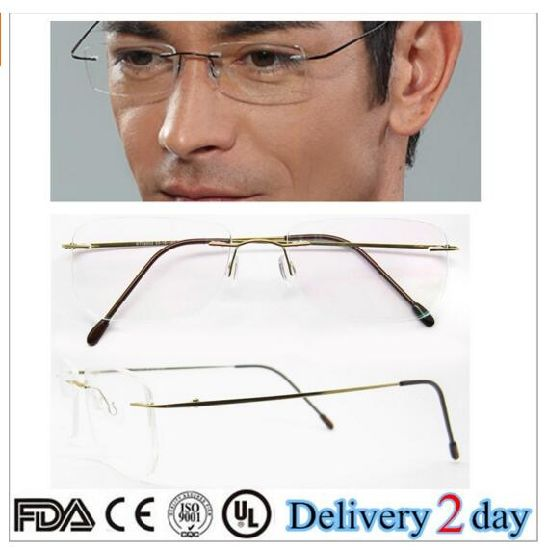 c9b5e19fba China Fashion 2018 Titanium Rimless Eyeglass Frames - China Rimless ...