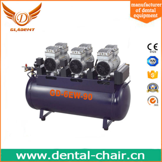 Dental Air Compressor Oilless Free Air Compressor for 6 Chairs