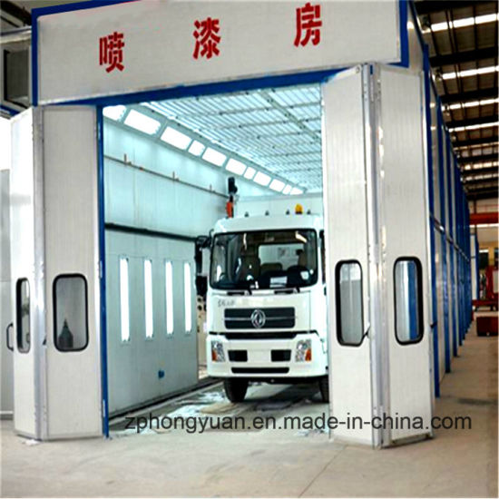 Paint Booth for Truck with Intake and Exhaust Fan