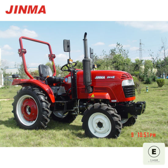 Jinma 4WD 25HP Wheel Farm Tractor with old version CE Certification (JINMA 244E) pictures & photos