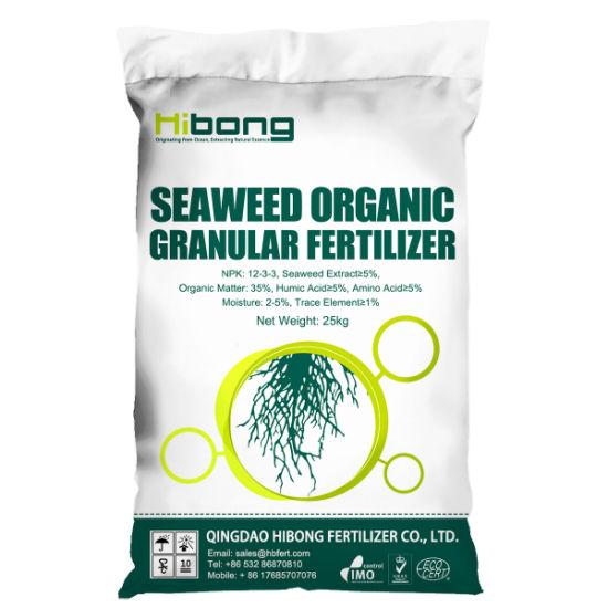 Seahibong Tumbling Granulation Bio Seaweed Organic Composition Granular Fertilizer