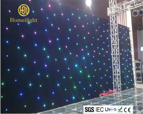 LED Twinkle Cloth RGB Star Curtain 3in1 Backdrop pictures & photos