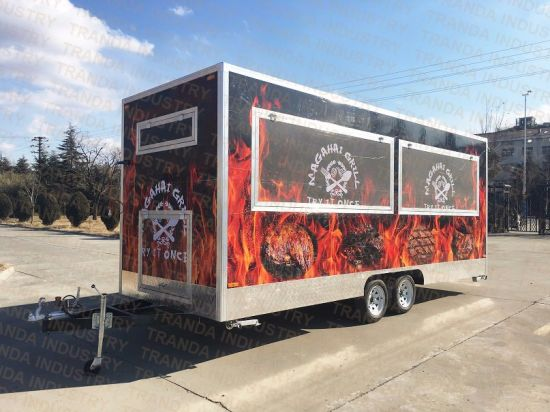 China Customs Catering Cart Kitchen Street Food Truck Mobile Food