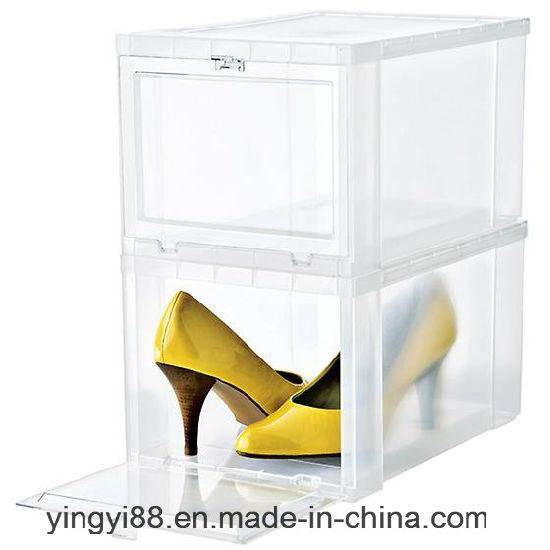 1382e51d9e51c1 Strong Transparent Plastic Drop-Front Shoe Box Wholesale pictures   photos