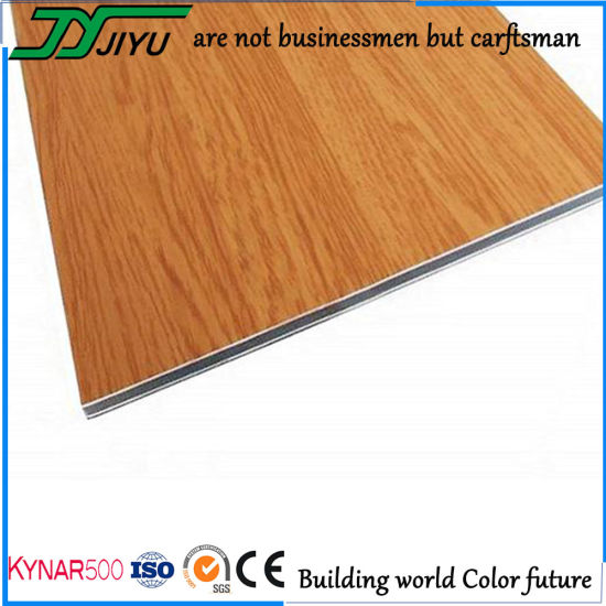 Wood Grain PVDF Aluminum Composite Panel for Decoration Material pictures & photos