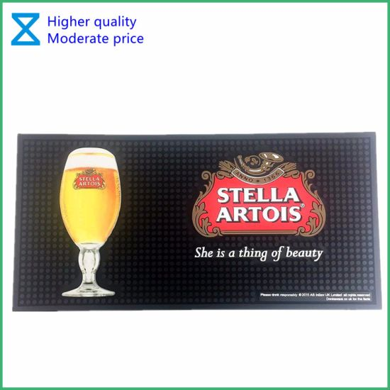High Quality portable PVC Rubber Silicone Bar Mat for Promotional Gifts