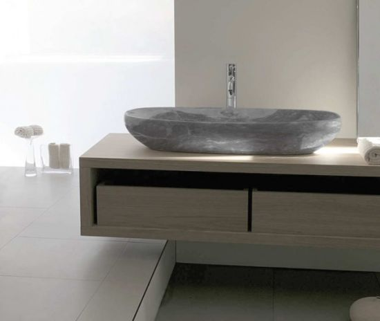 Natural Marble Pedestal Stone Sink Italian Basin Vessel Marble Sink for Bathroom pictures & photos
