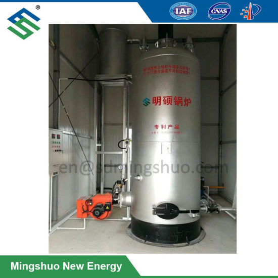 Vertical Gas Boiler for Water Heating in Biogas Plant